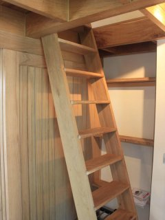 Ladder to mezzanine suitable for kids over 9