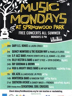 Music Mondays in Asbury Park with live music bands: salsa, r&b, rock and roll, latina music, hip hop