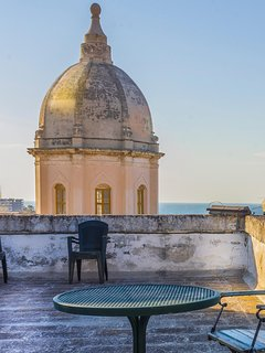 The dome of Santa Teresa from the roof terrace