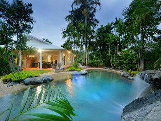 SANDWATER-Tropical beachside holiday house with heated pool.