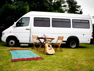 Guinevere, luxury campervan hire from Quirky Campers
