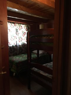 front bedroom, twin bed and bunk bed