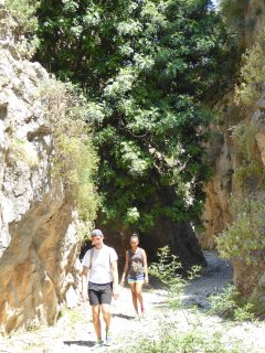 Brilliant local Gorge walking...but hot, hot..hot!