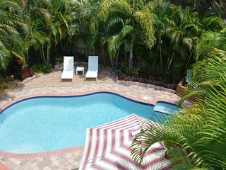 UNAFFECTED BY IRMA!! Tranquil Holiday Oasis: Pvt. Htd Salt Water Pool nr. Beach