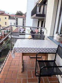 large balcony.