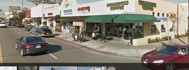 street scene, Starbucks across the street