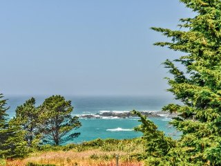 Charming oceanview cottage just a 1-minute drive to Van Damme Beach & State Park