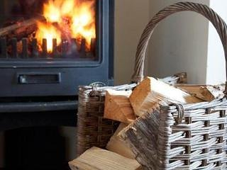 Romantic, cosy log fire. Unlimited logs supplied.