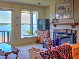 NEW! 2BR Dewittville Condo w/ Lovely Lake Views!
