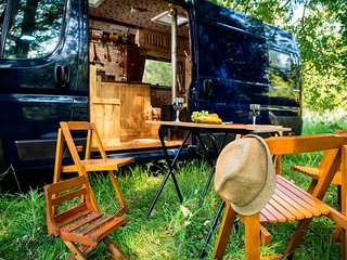 Asha, handmade luxury campervan hire from Quirky Campers