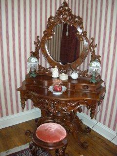 Antique dressing table in bathroom
