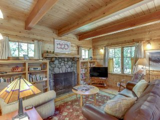 Lovely cabin home w/ updated amenities, cozy fireplace, & deck w/ grill!
