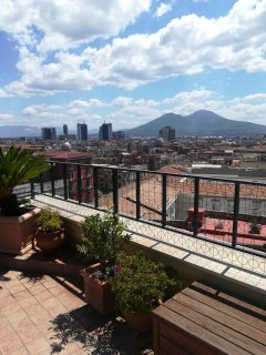 A wonderful penthouse in Naples