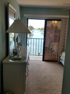 'Rare' beautiful full length canal views as seen from hall (BR#2); dock lights beautiful at night!
