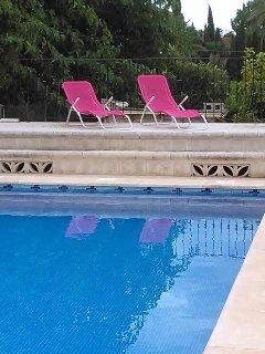 Solarium en piscina