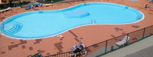Aerial view of large pool