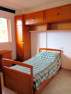 2 x single bedroom; one bed slots under the other