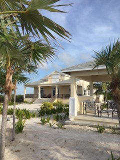 Conch Cottage and Cabana from the sea wall.