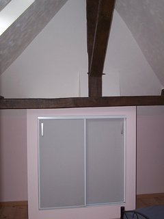 Both bedrooms have vaulted ceilings and built in wardrobes