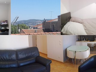 Appartement ceour de ville avec vue, calme et lumineux