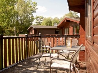 With views towards Loch Lomond, the Lodge offers spacious decking to the front.