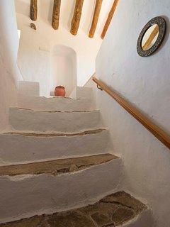 De oorspronkelijke trapopgang naar de eerste verdieping