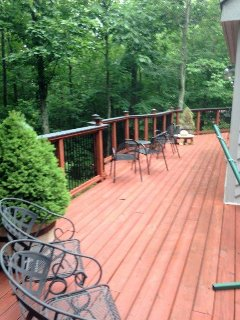 Amazing deck overlooking the Blue Ridge Parkway and the Shenandoah valley