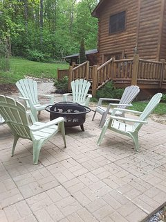 All season Fire Pit patio is a great place for gathering, sharing stories and making smores