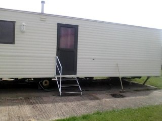 Holiday caravan in Whitehouse Leisure Park