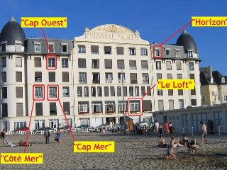 Vue mer, appartement 2 pieces - 4 personnes, ascenseurs, acces direct a la plage