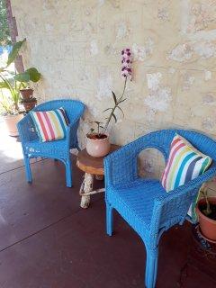Sit on the Verandah and enjoy the garden