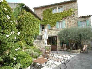 Luxueuse maison de village climatisée, cour jardin piscine, Cabrières d'Avignon