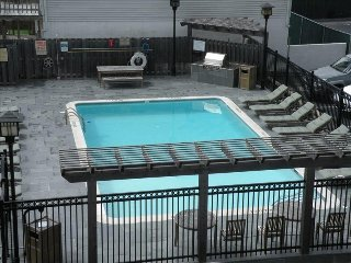 Pool and BBQ grill