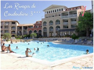 Vacances T2 Standing Piscine vue Mer Parking