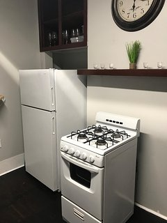 Refrigerator and gas stove/oven