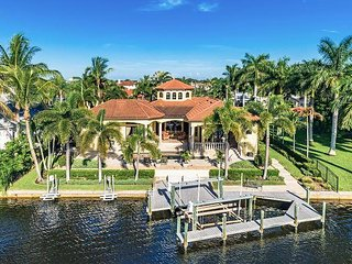 Stunning Waterfront 3BR Estate w/ Heated Pool, In-Ground Spa & Private Dock