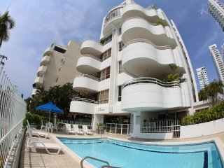Beautiful condo with amazing views and steps to pool and best Cartagena beaches