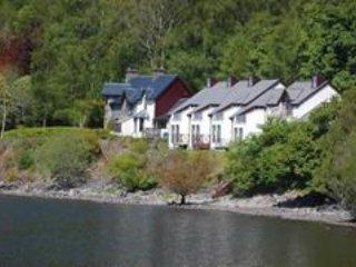 Exemplo de loja laterais Loch. Lodge para alugar é elevada com vistas deslumbrantes!