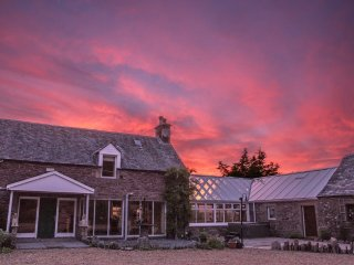 A wonderful sunset view from the courtyard at Williamsfiled