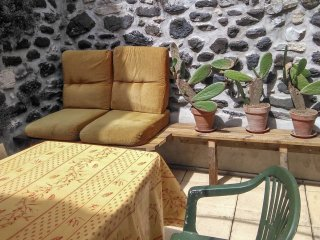 Traditional, 2 bedrooms house in the ardèche region with a furnished terrace