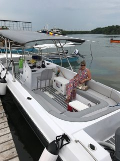 My boat has large cooler and can be rented for the day