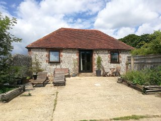 Newly refurbished detached South Downs flint barn with log burner