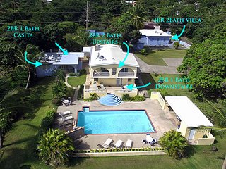 Aerial drone shot of entire Casa Ladera property
