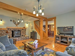Enjoy your favorite shows on the cable TV in the living area.