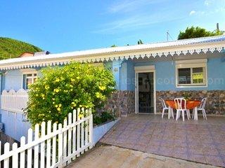Colourful house near the beach