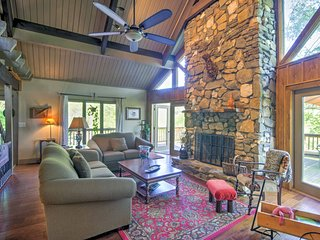 Warm up next to the wood-burning fireplace on cooler afternoons or evenings.