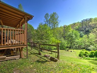 Franklin 'Pine Leaf Cabin' on Creek w/ Mtn. Views!