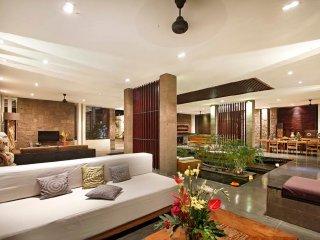 expansive modern living room