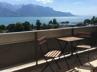 ap.3.5, limineux, calme, vue Clarens sur  Montreux