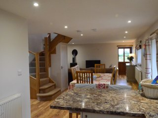 Open plan dining area from kitchen